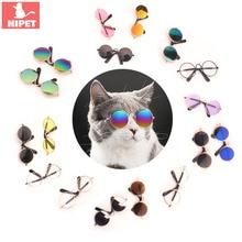 Очки «кошачий глаз» Игрушки для маленьких собак, кошки, собаки, Лето Защита Хэллоуин Косплэй фото реквизит для питомца кота аксессуары: солнцезащитные очки