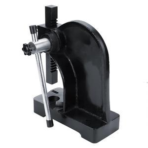 Image 2 - 1T Carbon Steel Manual Desktop Hand Punch Press Machine Metal Arbor Press Tool
