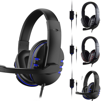 3.5mm Wired Gaming Headset PC Bass Stereo Surround Headphone Wired Computer Gamer Earphone With Mic For PS4 Laptop For Xbo​X 3 5mm wired gaming headset pc bass stereo surround headphone wired computer gamer earphone with mic for ps4 laptop for xbo​x