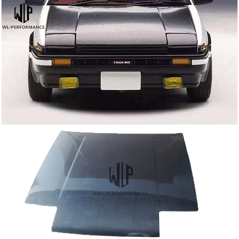 AE 86 Carbon Fiber Car Front Lid Hood Bonnets Car Body Kit  For Toyota AE 86 2013-2017 Car Styling Use