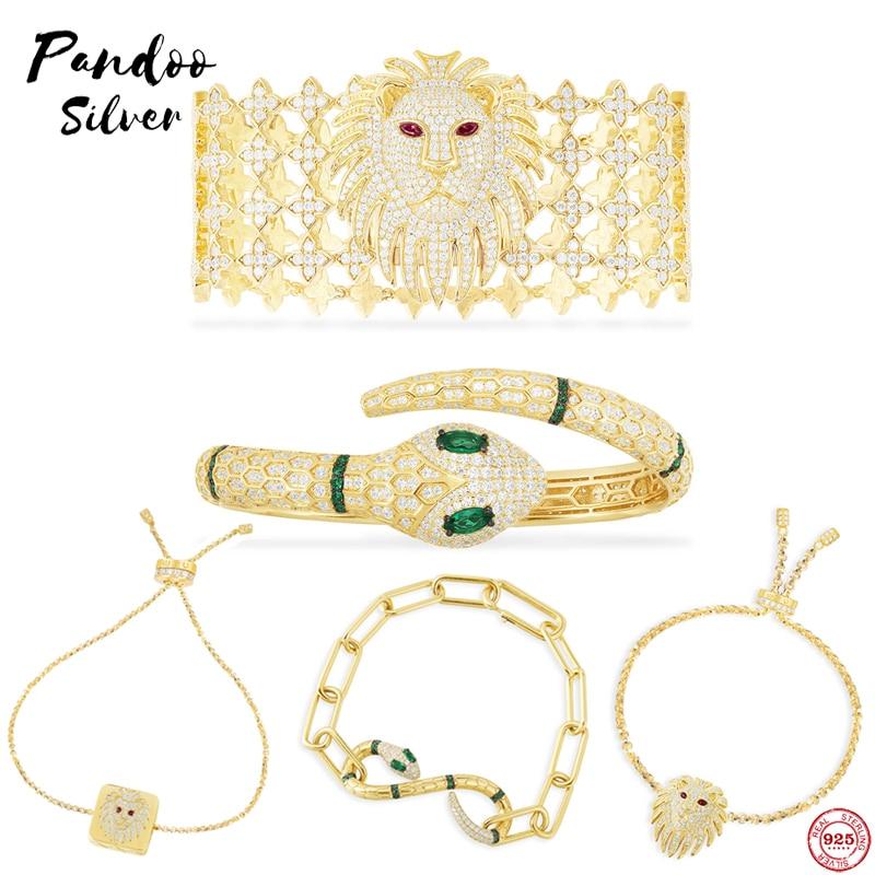 925 Sterling Silver Monaco Jewelry,Moon Star Bracelet,Snake Bracelet,burgundy Stone Lion Bracelet,Egyptian Tribute Collection
