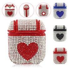 Защитный чехол с блестящими бриллиантами в форме сердца для