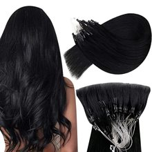 VeSunny Micro Ring Loop Hair Extensions Human Hair Seamless Micro Link Remy Human Hair Invisible 50gr/pack 14-24 inches