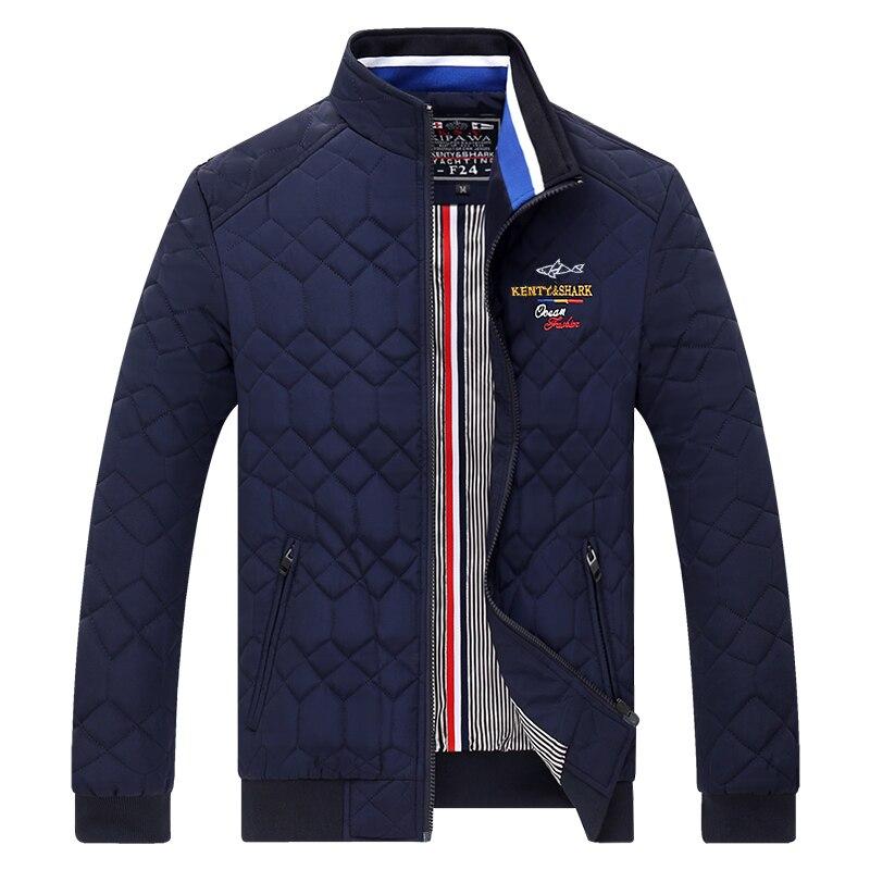 Kenty Shark Brand Men's Jackets & Coats Thick Warm Cotton Liner Overcoat Autumn Men's Windbreakers Bomber Jacket Men 3XL 4XL