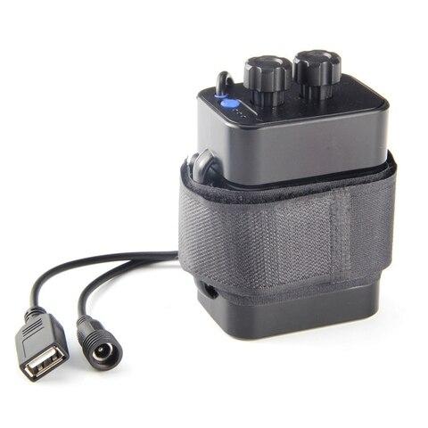 Caixa de Bateria Caixa de Bateria à Prova Seção Impermeável Bateria Pacote 5vusb – 8.4vdc Relação Dupla à Prova Dwaterproof Água 6 18650 Mod. 329235