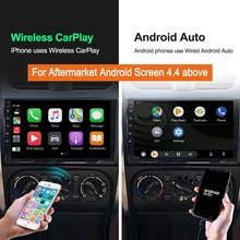 Para aftermarket android multimídia player iphone ios 14 kit ariplay carplay sem fio dongle usb android auto