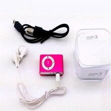 Коробка красочный Mp3 плеер мини Mp3 музыкальный плеер Micro TF слот для карты USB MP3 S порт плеер USB порт с наушниками