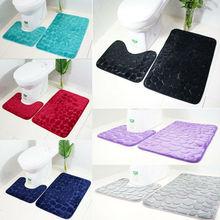 2 шт./компл. Воронка Cobblestone коврики для ванной Противоскользящий коврик для туалета Булыжный коврик для ванной Противоскользящий коврик