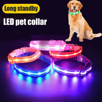 Glowing Pendant LED Night Safety Dog Collar 1