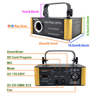 Image 2 - SD Card DMX RGB Color Editable ILD Animation Music Laser Projector Strobe Lights Disco Party DJ Club Stage Color Music Lighting