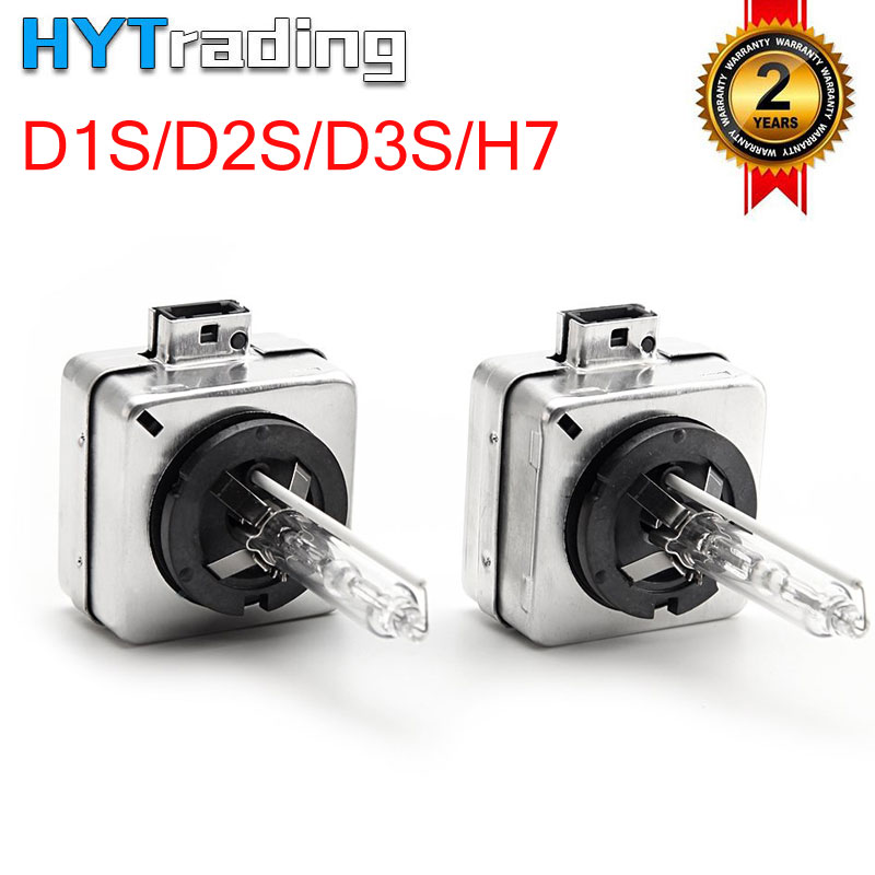 Hytrading A Pair <font><b>D1S</b></font> 5500K Xenon HID Replacement Bulb Diamond White Metal Stents Base 12V Car Headlight Lamps Head Lights <font><b>35W</b></font> image