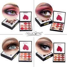 NEWCOME 8/9/12/16 colors Makeup Eyeshadow Pallete makeup brushes Shimmer Pigmented Eye Shadow Palette Make up Palette maquillage