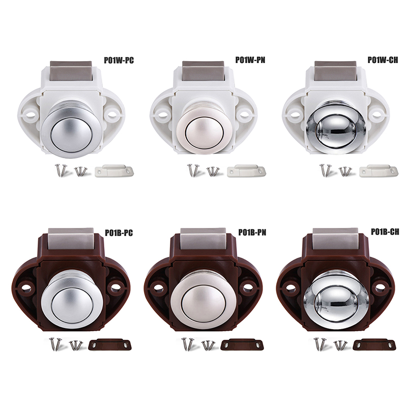 Push Button Catch Cupboard Door Knob Latch Lock For RV Home Furniture TP899