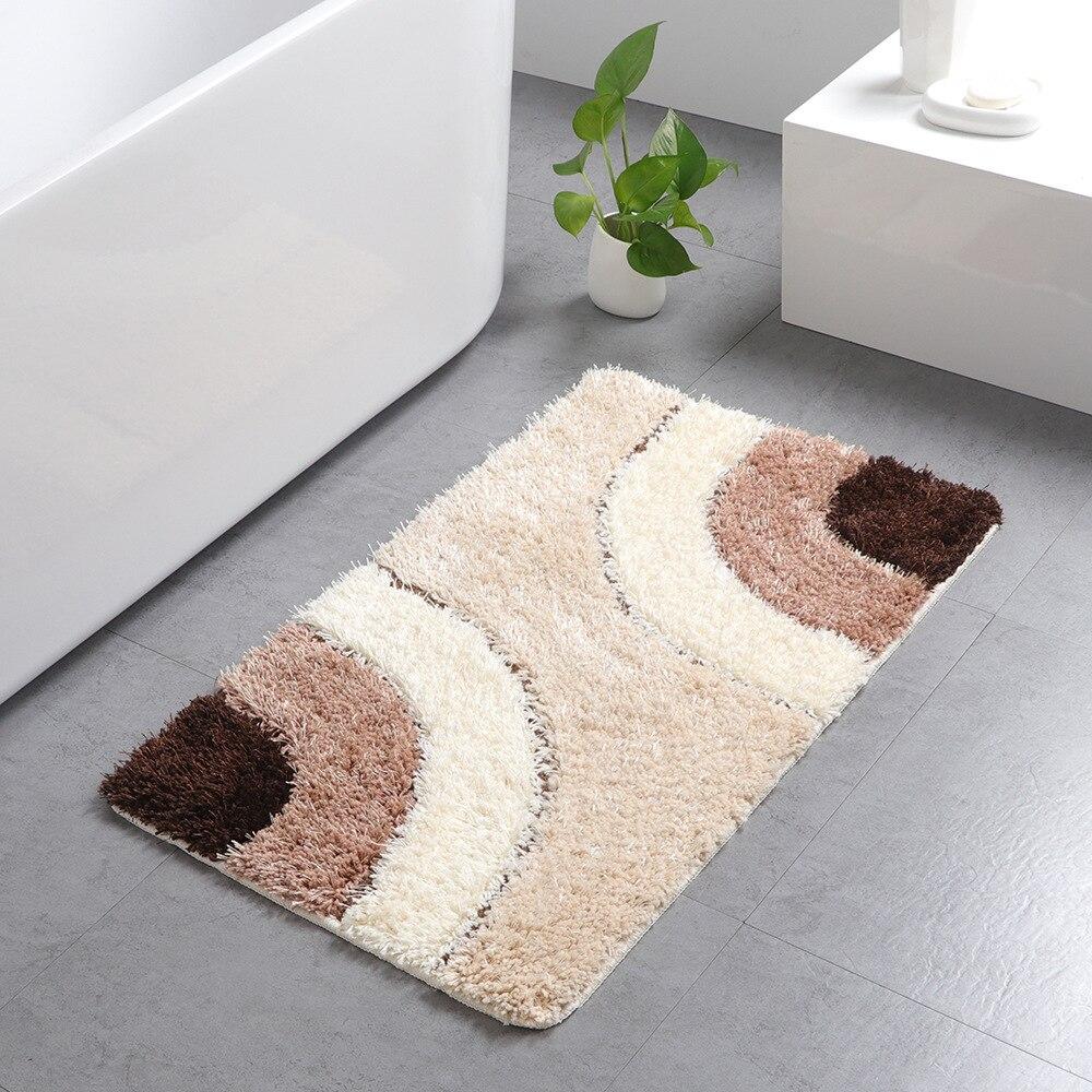 Maison tapis rectangulaire en gros microfibre Style européen tufté tapis ménage salle de bains absorbant l'eau-tapis antidérapant porte d'entrée