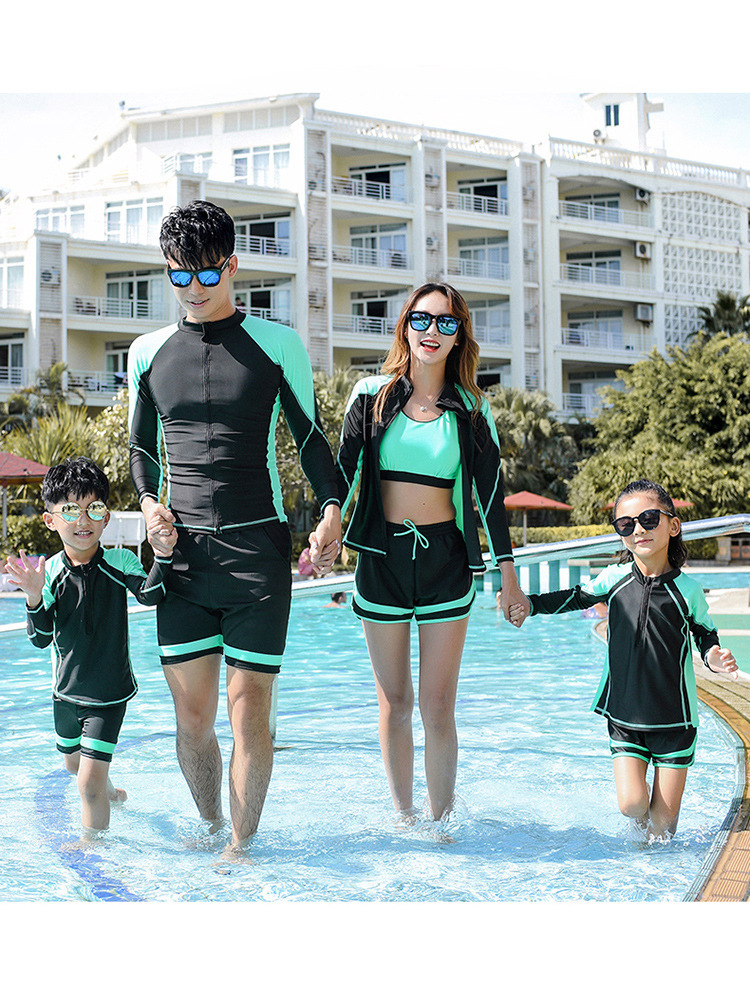 2019 Beach Swimming Holiday Parent-child Matching Outfit A Three Or Four The Whole Family Mother & Daughter Mother And Child Set