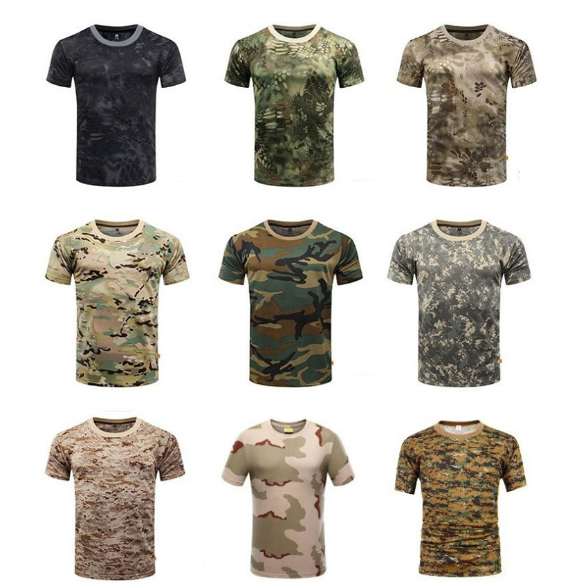 Short Sleeve ACU Camouflage Tactical Military Uniform Men Airsoft Paintball Tactical Clothes Absorb Sweat Military Combat Shirt