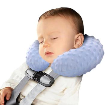1Pc Cervical Baby U-Shaped Pillow Filler Cushion Sleeping Head Protection Newborn Car Interior Safety Seat Neck Support Infant Care-A