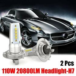 New 2Pcs H7 LED Headlight Conversion Set Cob Bulb 36W / 6000LM White Low LED Headlights Lamp High Brightness Car Lights Bulbs