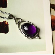 1PC Amethyst Pendant Mineral Jewelry Couple Decoration Quartz Crystal Holiday Birthday Gift Jewelry Accessories Men and Women(China)