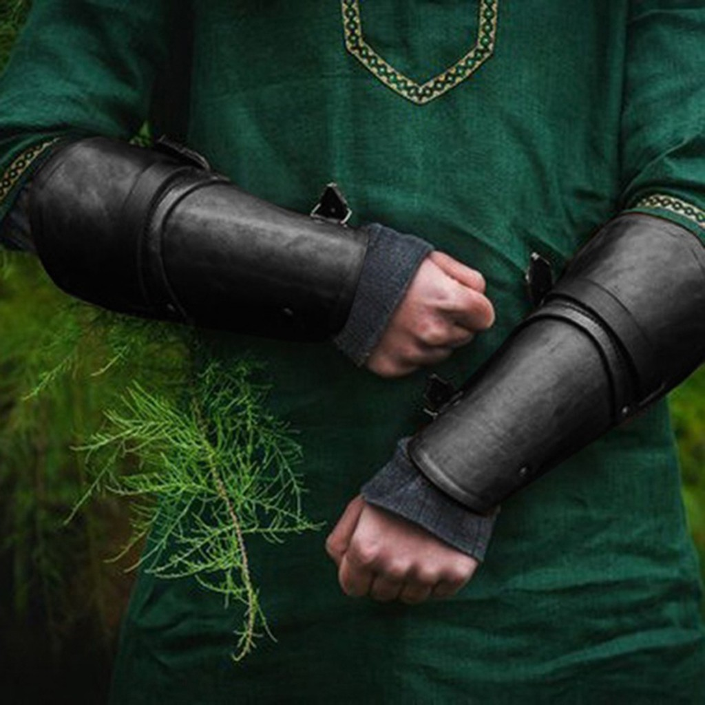 2019 Men's New Style Medieval Retro LLather Wrist Guard Imitation Leather Wrist Guard Sleeves Arms Best Selling Dropshipping