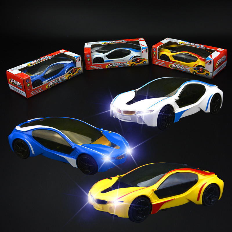 Electric Universal Toy Car 3D Light And Music CHILDREN'S Car Toy Model Glowing Toy Stall Night Market Goods