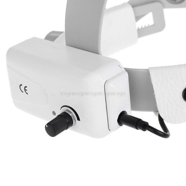 3.5X Magnify High Intensity LED Light  Headlight  Headband Loupe  Binocular Loupes Rechargeable D13 19
