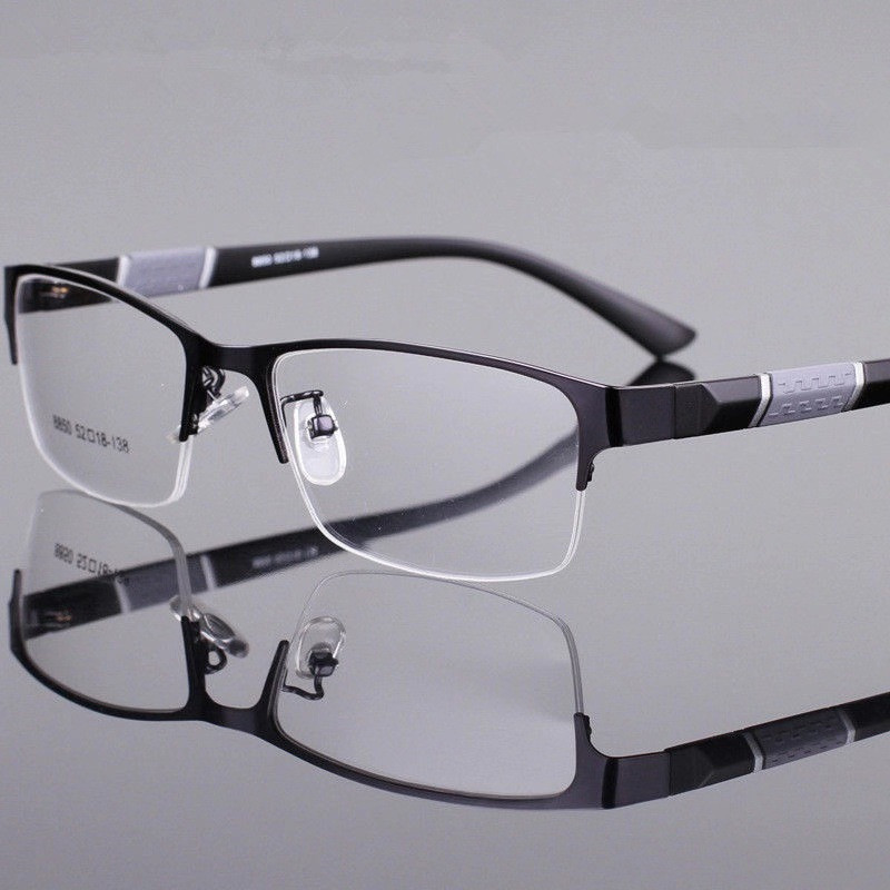 -1 -1.5 -2 -2.5 -3 -3.5 -4 -4.5 -5 -5.5 -6 -Myopia Glasses Men Retro Metal Frame Square Students Myopia Glasses Frame For Women