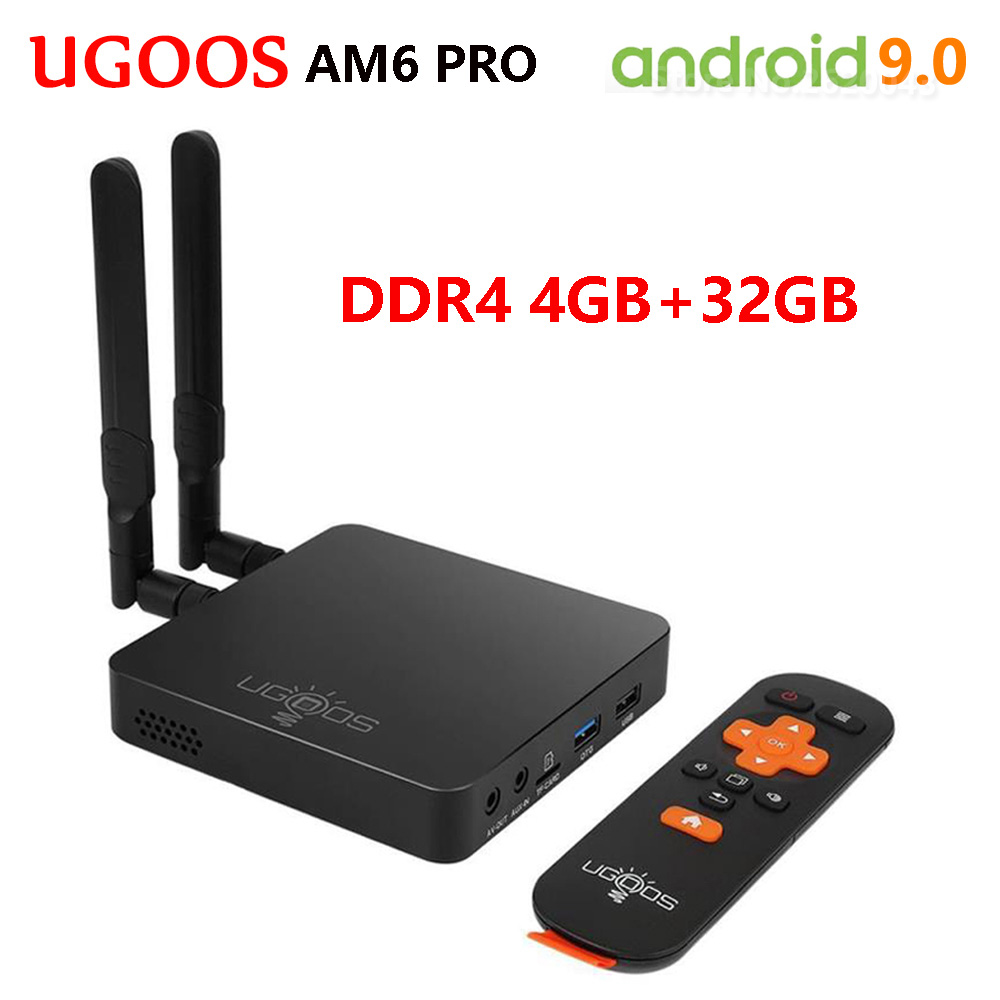 UGOOS AM6 PRO Amlogic S922X Quad-Core Android 9.0 Smart Tv Box DDR4 4GB32GB 2.4G 5G Wifi BT5.0 1000M décodeur lecteur multimédia 4k