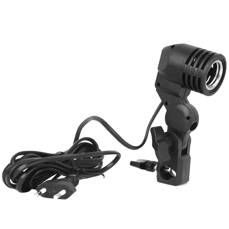 Photography Photo Light Bulb Single Holder E27 Pedestal Studio EU Plug