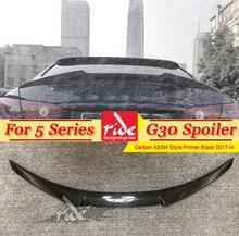 For BMW G30 Carbon Fiber Rear Spoiler Wing M4 Style 5 Series 520i 525i 530i 535i 540i 4-doors Sedan Rear Trunk Boot Lip 2017-in цены онлайн