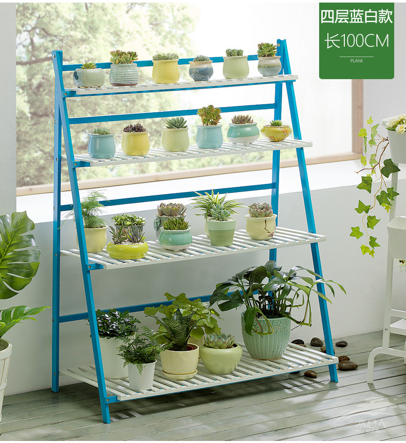 Flower Rack  Plants Stand Outdoor Indoor Plant Bamboo Plant Ladder Shelf Living Room Balcony Decoration Succulent Flowerpot Rack