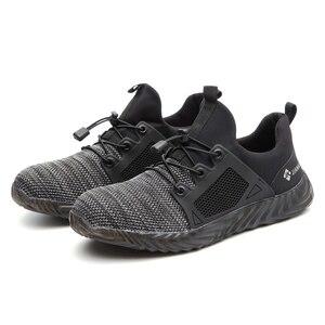 Image 5 - Ryder zapatos indestructibles con punta de acero para hombre y mujer, botas de seguridad antiperforación, transpirables, para trabajo
