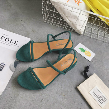 newFlat outdoor slippers Sandals foot ring straps beaded Roman sandals fashion low slope with women's shoes low heelshoes PM-115 image