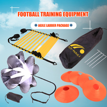 Footwork Speed Agility Ladder Football Adjustable Training Kit with Disc Cones for Outdoor Exercise Sport Decoration