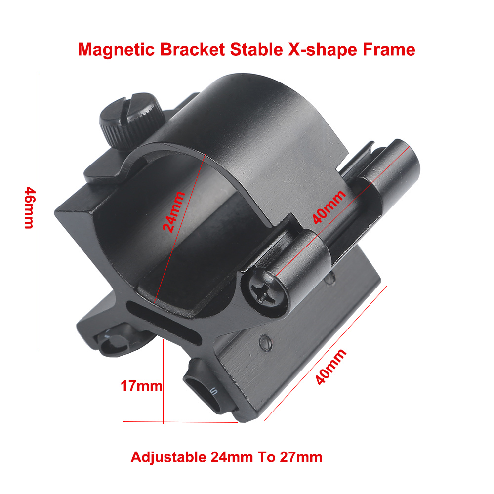 Magnetic Scope Gun Mount Magnet Flashlights Mount Strong X Holder Riflescope Laser Torch Lanterna Bracket Hunting Accessories