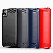 Para huawei y5p y6p y7p y8p caso capa y6s y8s y9s y5 y7 2019 anti-knock amortecedor macio tpu fibra de carbono caso de telefone para huawei y7a