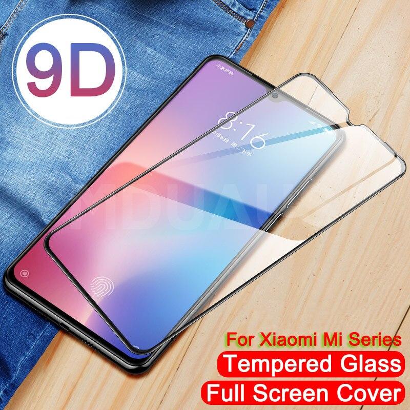 9D Tempered Glass For Xiaomi Mi 9 SE CC9 CC9E Mi 8 SE A1 A2 A3 Lite Pocophone F1 Screen Protector Protective Glass Film Case