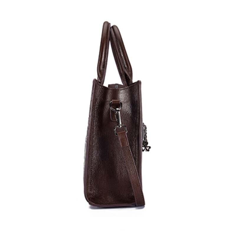 Pyaterochka Berühmte Marke 2019 Trend Handtasche Frauen Aus Echtem Leder Luxus Casual Schulter Taschen Hohe Qualität Günstige Hand Tasche - 5