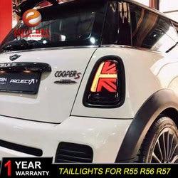 Auto Styling Case Voor Mini Cooper Clubman R55 R56 R57 Achterlichten 2007-2013 Led Achterlichten Mistlamp R55 r56 R57 Achterlicht