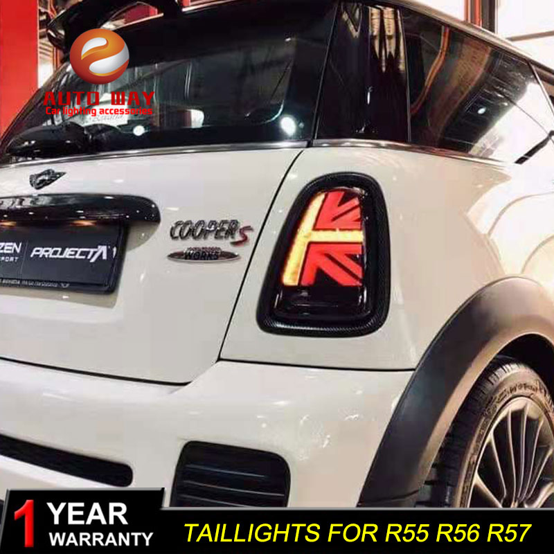 Car Styling Case For Mini Cooper Clubman R55 R56 R57 Taillights 2007-2013 Led Tail Lights Fog Lamp R55 R56 R57 Taillight