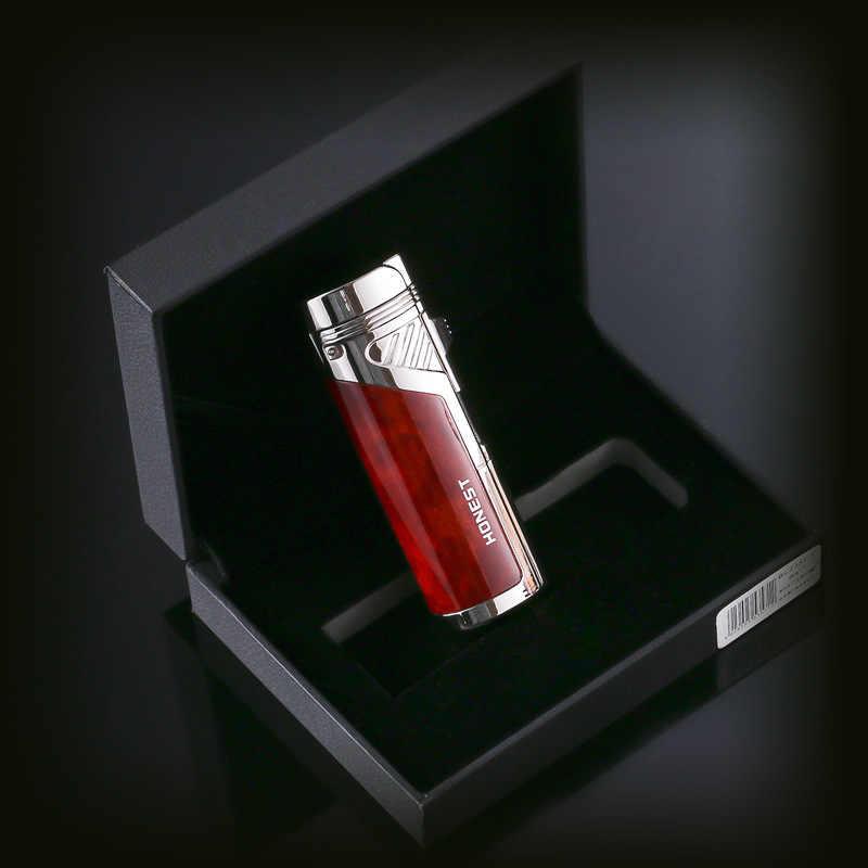 כנה 4 Jet להבת מתכת סיגר מצית סיגריות בוטאן לפיד Arc מצית מצית גאדג 'טים עבור מתנות