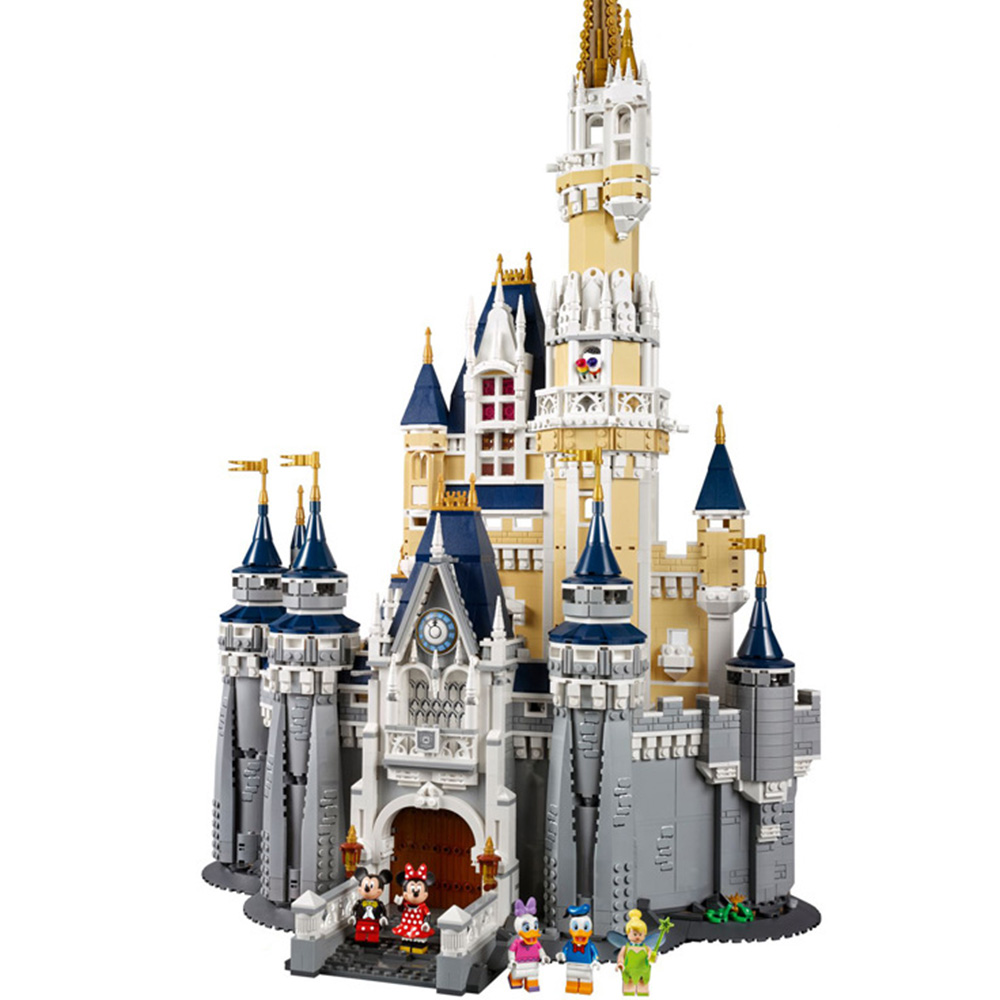 New 16008 Cinderella Princess <font><b>Castle</b></font> City Model 4080Pcs Building Block Kid Toys For Children Gift Movie <font><b>71040</b></font> Christmas gifts image