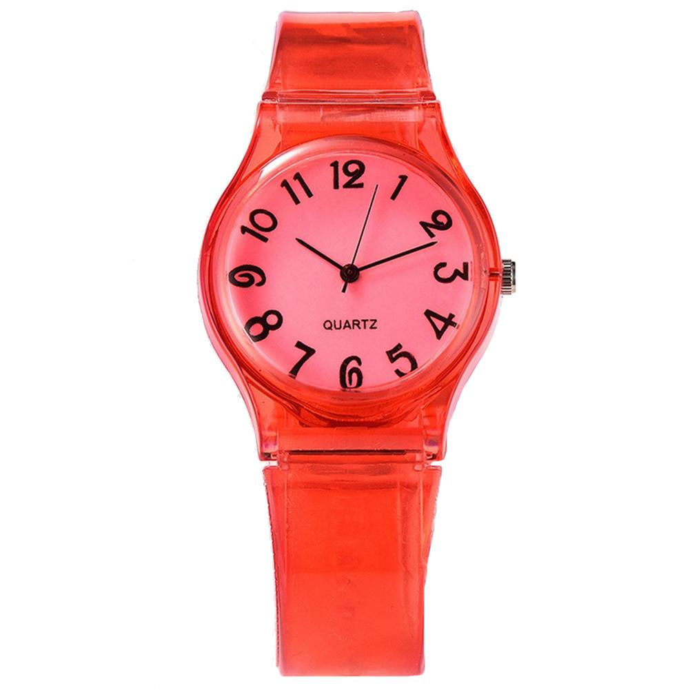 Children Candy Color Big Number Round Dial Kids Watches Silicone Band Quartz Wrist Watches Reloj Mujer Relog Feminino Zegarek Da