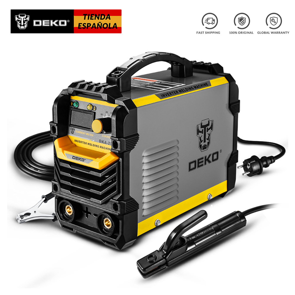 Deko dka série igbt inversor 220 v máquina de solda a arco mma soldador para solda e trabalho elétrico com/acessórios
