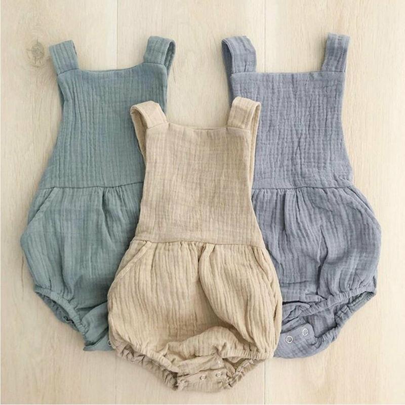 US Infant Baby Boy Girl Bodysuit Romper Jumpsuit Summer Outfit Bib Pants Clothes