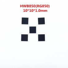 5 шт. HWB850 RG850 10* 10x*. 0 мм 850nm ИК инфракрасный фильтр длинных частот УФ Видимый светильник с черным стеклом