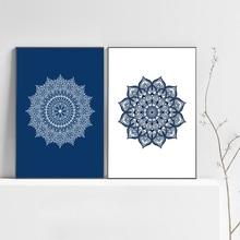 Настенная картина с изображением мандалы, декор для йоги, дзен, медитации, богемный холст, постер с изображением для гостиной, домашний деко...