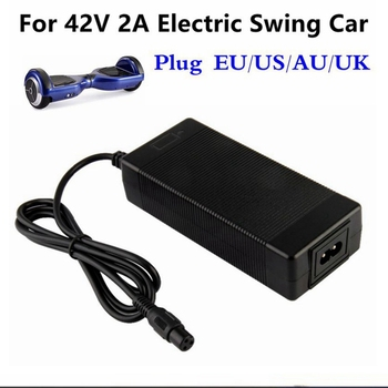 цена на 42V 2A Universal Battery Charger for Hoverboard Smart Balance Wheel 36v electric power scooter Adapter Charger EU/US/AU/UK Plug