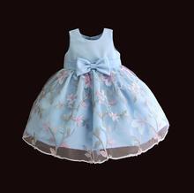 Платье для новорожденных девочек Hetiso, вечерние платья пачки с вышитыми цветами для 1 года, одежда для детей ясельного возраста