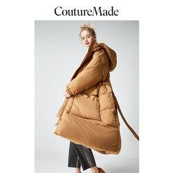 Vero Moda пуховик женский женская новая с капюшоном дизайн длинный белый гусиный пух Куртка парка пальто | 318412561